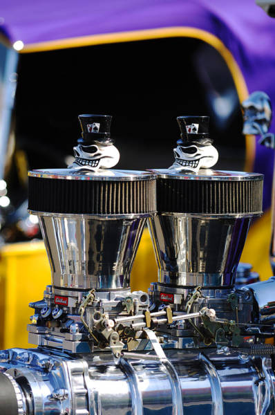 Rods Photograph - Skull - Engine Ornaments by Jill Reger