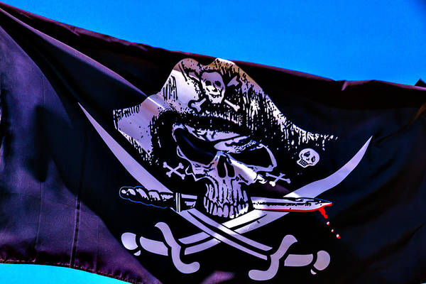 Gay Flag Photograph - Skull Flag With Dagger by Garry Gay