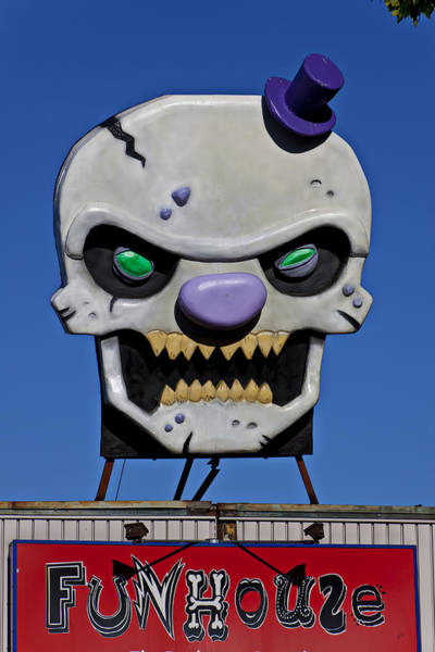 Promotion Photograph - Skull Fun House Sign by Garry Gay