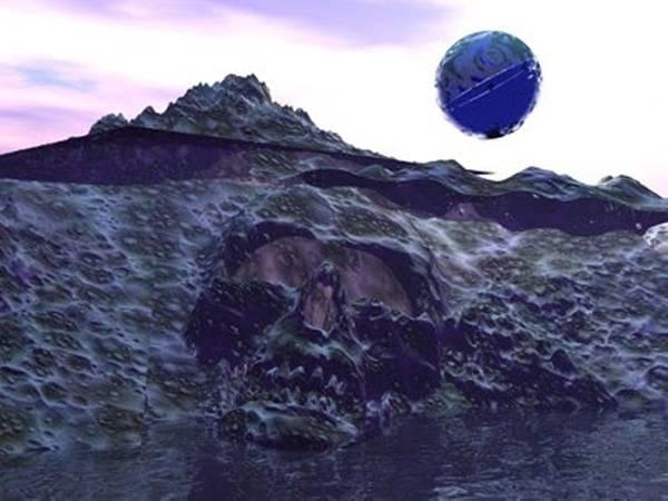 Digital Art - Skull Hill by Darren Cannell