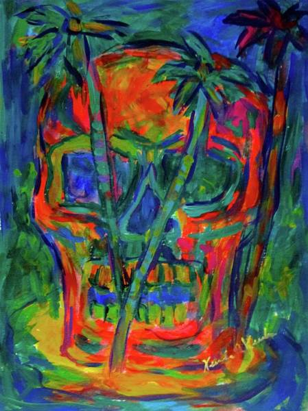 Painting - Skull Island Stage One by Kendall Kessler