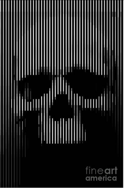Skulls Wall Art - Painting - Skull Lines by Sassan Filsoof