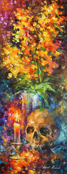 Wall Art - Painting -  Skull Of Reality by Leonid Afremov