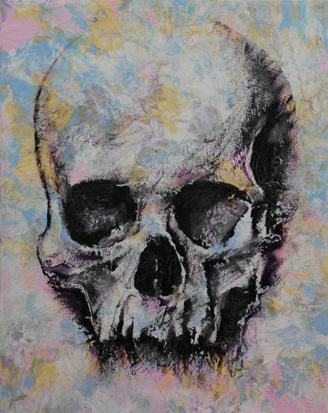 Pastel Drawing Painting - Medieval Skull by Michael Creese