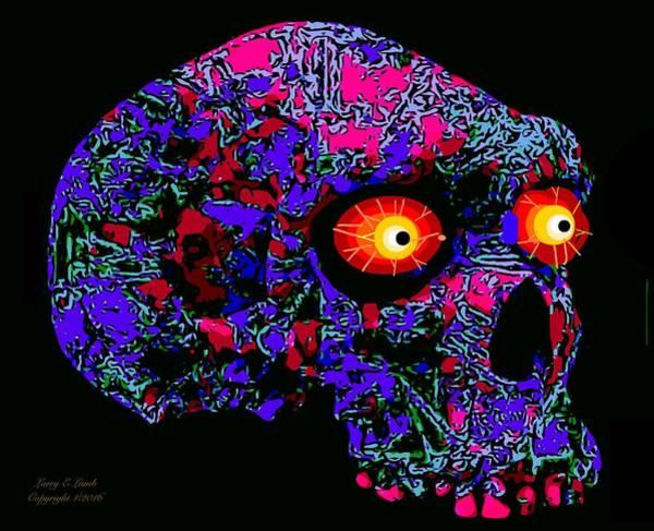 Tattoo Flash Painting - Skullduggery  by Larry Lamb