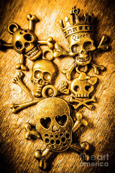 Biker Photograph - Skulls And Crossbones by Jorgo Photography - Wall Art Gallery