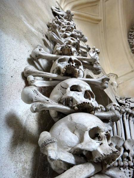 Charnel Photograph - Skulls Of Kutna Hora by Two Small Potatoes