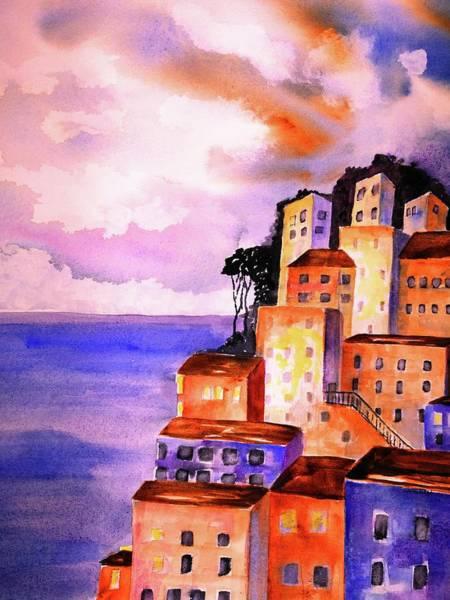 Painting - Sky At Dusk  by Carlin Blahnik CarlinArtWatercolor