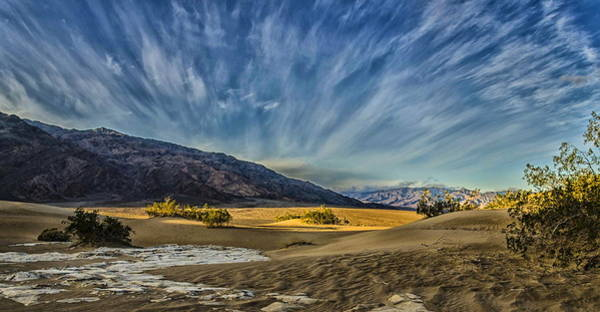 Photograph - Sky At Mesquite Dunes by Jim Cook