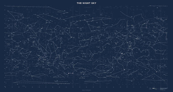 Galaxies Digital Art - Sky Chart Map Of Stars And Constellations by Martin Krzywinski