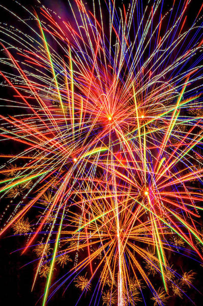 Dazzle Wall Art - Photograph - Sky Filled With Fireworks by Garry Gay