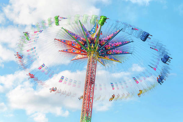 Fairground Photograph - Sky Flyer Ride At Minnesota State Fair by Jim Hughes