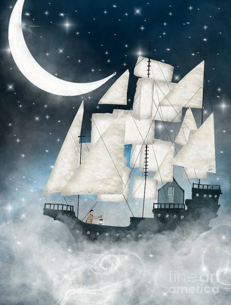 Tall Ships Wall Art - Painting - Sky Full Of Stars by Bri Buckley
