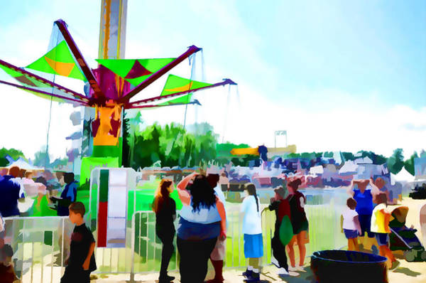 County Fair Painting - Sky Hawk by Jeelan Clark