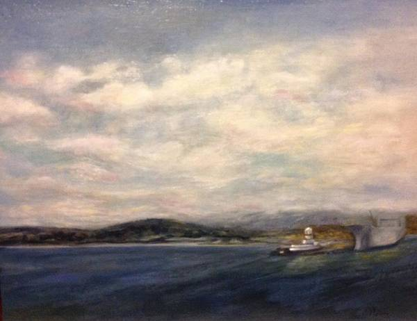 Painting - The Port Of Everett From Howarth Park by J Reynolds Dail