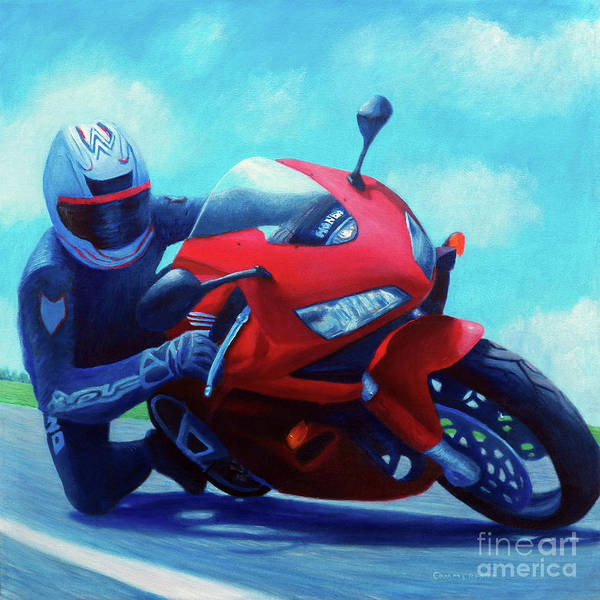 Wall Art - Painting - Sky Pilot - Honda Cbr600 by Brian  Commerford