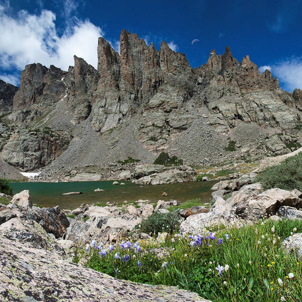 Wall Art - Photograph - Sky Pond - Rocky Mountain National Park by Aaron Spong