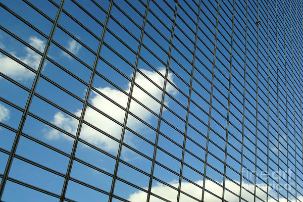 Financial Crisis Photograph - Sky Reflections by Delphimages Photo Creations