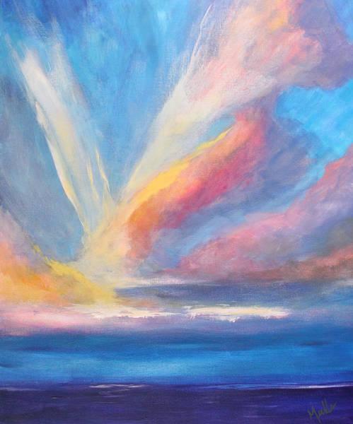 Wall Art - Painting - Sky Twist Cloudscape by Nancy Merkle