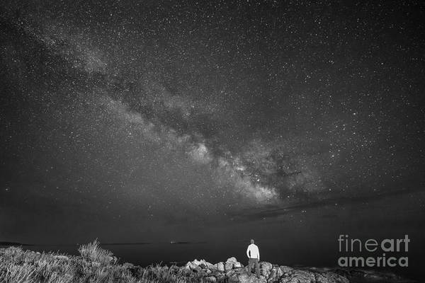 Port Clyde Photograph - Sky Walker Bw by Michael Ver Sprill