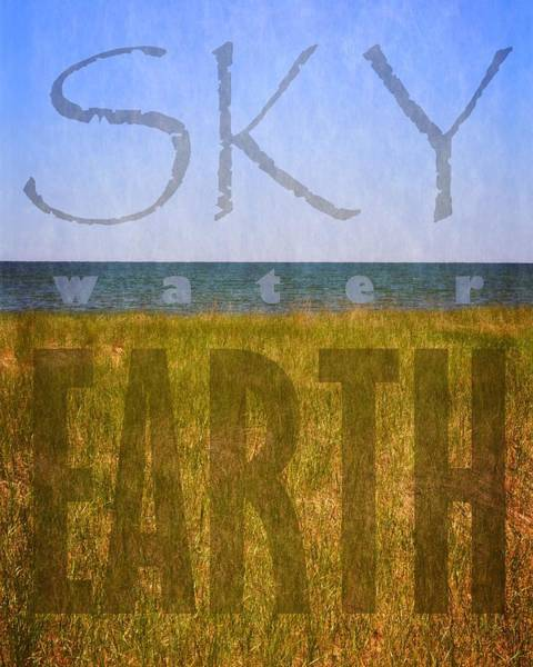 Photograph - Sky Water Earth 2.0 by Michelle Calkins
