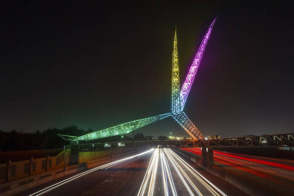 Photograph - Skydance Bridge Okc by James Menzies
