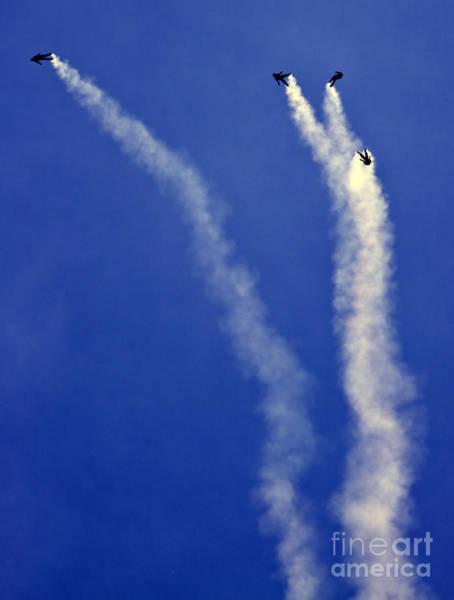 Skydivers Art Print
