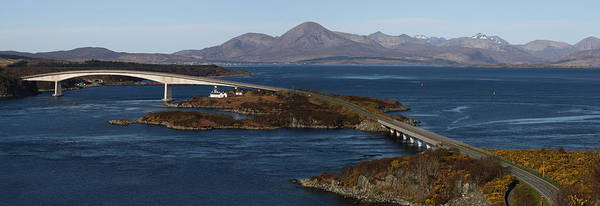 Photograph - Skye Bridge And Cuillin Mountain Range - Panorama by Maria Gaellman