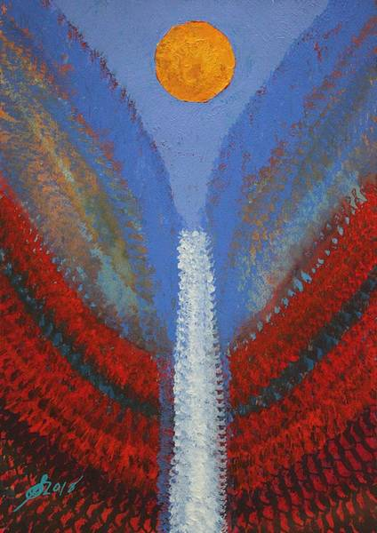 Painting - Skyfall Original Painting by Sol Luckman