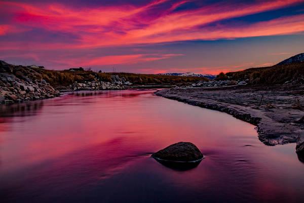 Lightroom Photograph - Skyfire Under The Bridge by Mike Herron