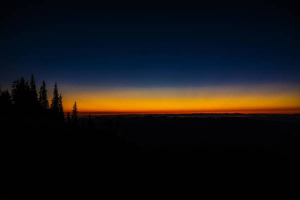 Divided Photograph - Skyline Divide Sunset by Pelo Blanco Photo