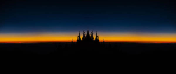 Divided Photograph - Skyline Divide Sunset Reflection by Pelo Blanco Photo