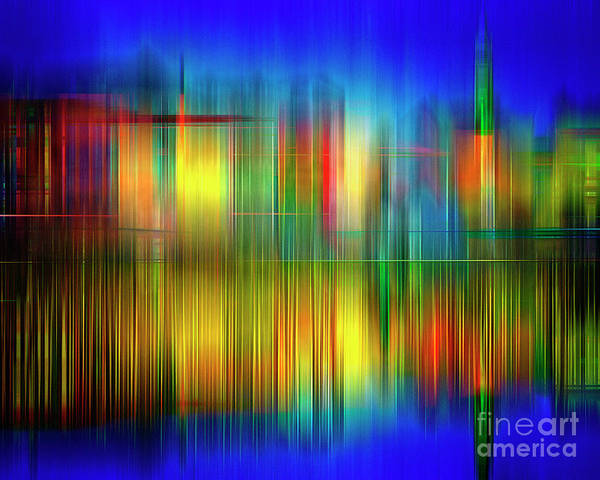 Digital Art - Skyline by Edmund Nagele