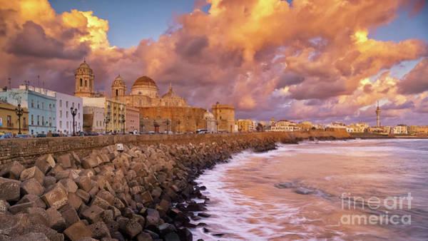 Skyline From Campo Del Sur Cadiz Spain Art Print