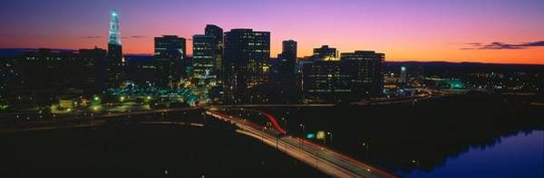 Wall Art - Photograph - Skyline, Hartford, Sunset, Connecticut by Panoramic Images