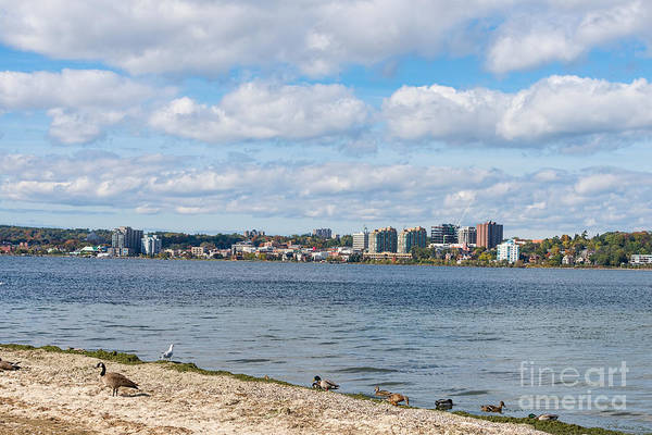 Photograph - Skyline Of Barrie, Ontario by Les Palenik