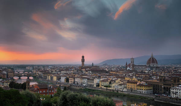 Outdoor Wall Art - Photograph - Skyline Of Florence City Italy by Michalakis Ppalis