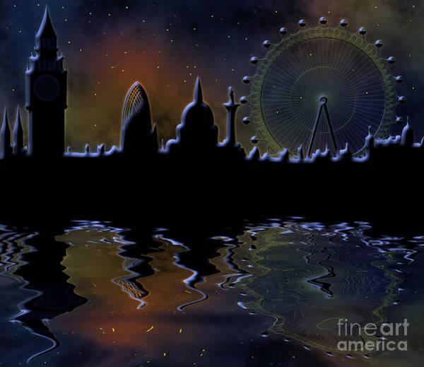 Tourism Wall Art - Digital Art - skyline of London by Michal Boubin