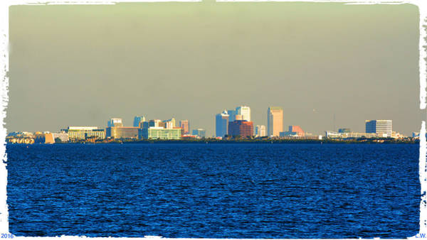 Wall Art - Photograph - Skyline Of Tampa Bay Florida by Lisa Wooten