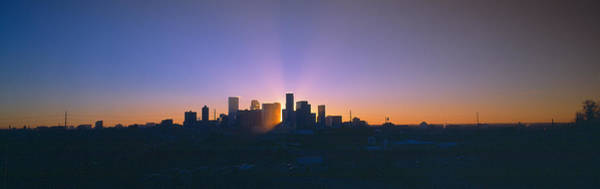Mile High City Photograph - Skyline, Sunrise, Denver, Co by Panoramic Images