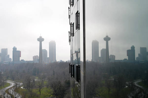 Photograph - Skylon Tower Reflections - Niagara Falls Canada by Bill Cannon
