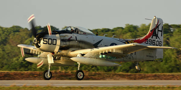 Photograph - Skyraider At Twilight by David Hart