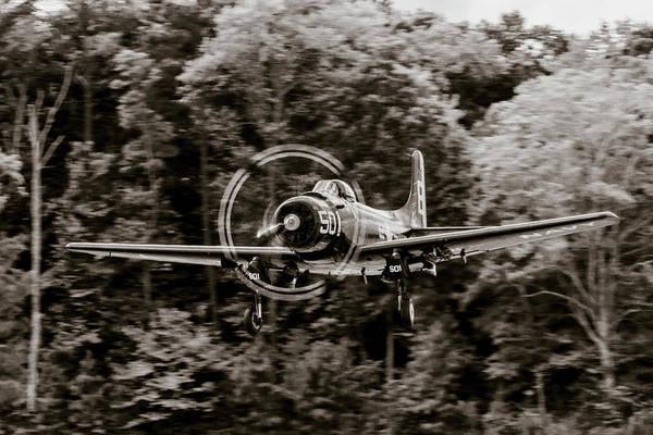 Photograph - Skyraider Black And White by Liza Eckardt