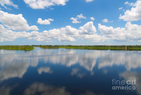 Photograph - Skyscape Reflections Blue Cypress Marsh Conservation Area Florida C2 by Ricardos Creations