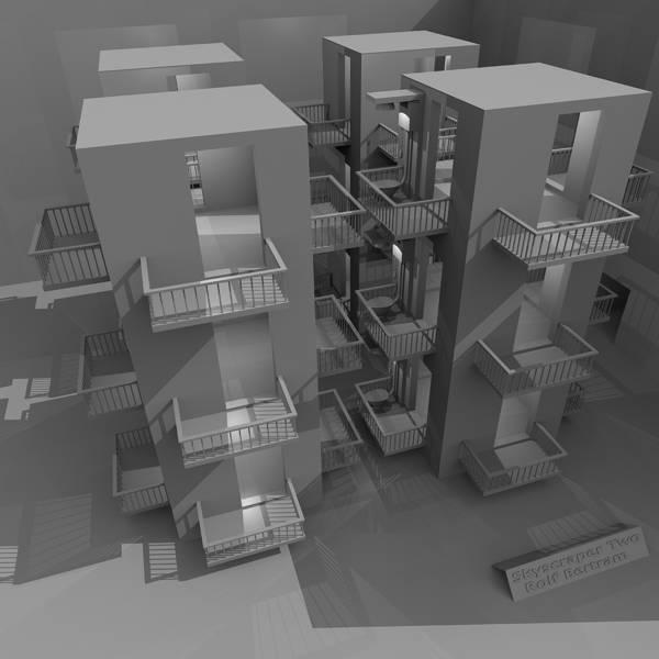 Digital Art - Skyscraper Two by Rolf Bertram