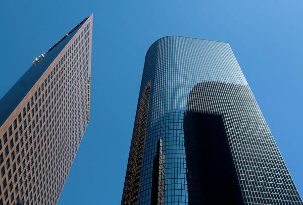 Photograph - Skyscrapers Reflect Los Angeles by Lorraine Devon Wilke