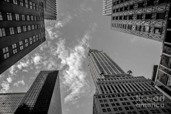 Photograph - Skytops Manhattan Black And White by Alissa Beth Photography