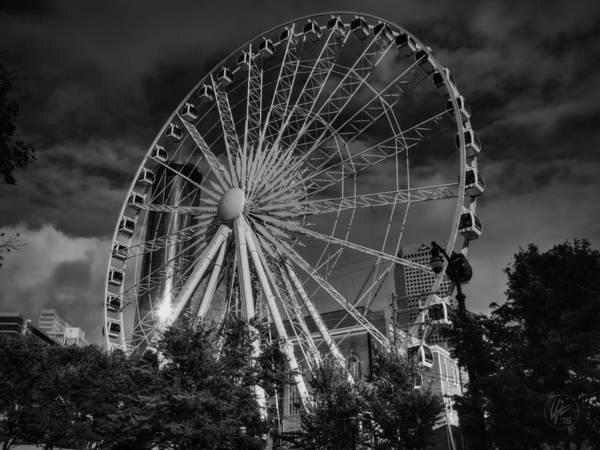 Photograph - Skyview Atlanta 001 Bw by Lance Vaughn