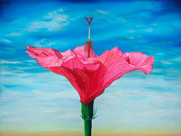 Hibiscus Flower Painting - Skyward by Kerri Meehan