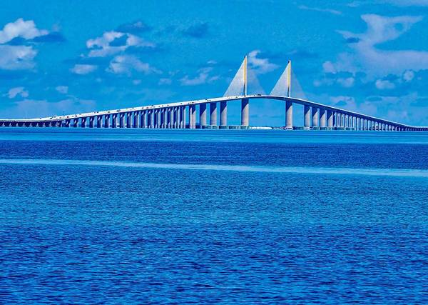 Photograph - Skyway Bridge by Farol Tomson